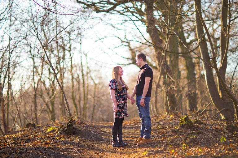 Engagement photography Fife Dalgety Bay forest Letham Woods Dunfermline photographer
