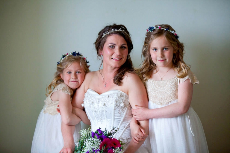 bride with daughters