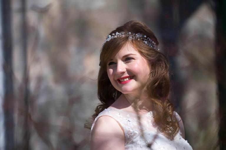 4 bride smiles