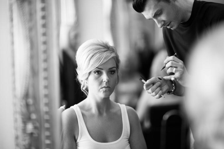 Keavil House Hotel wedding photography bride reflection in mirror