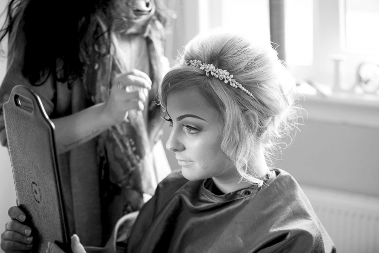 1 bride getting ready