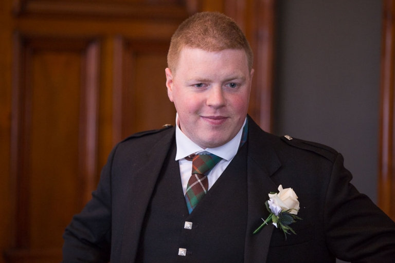 Glasgow City Chambers wedding groom