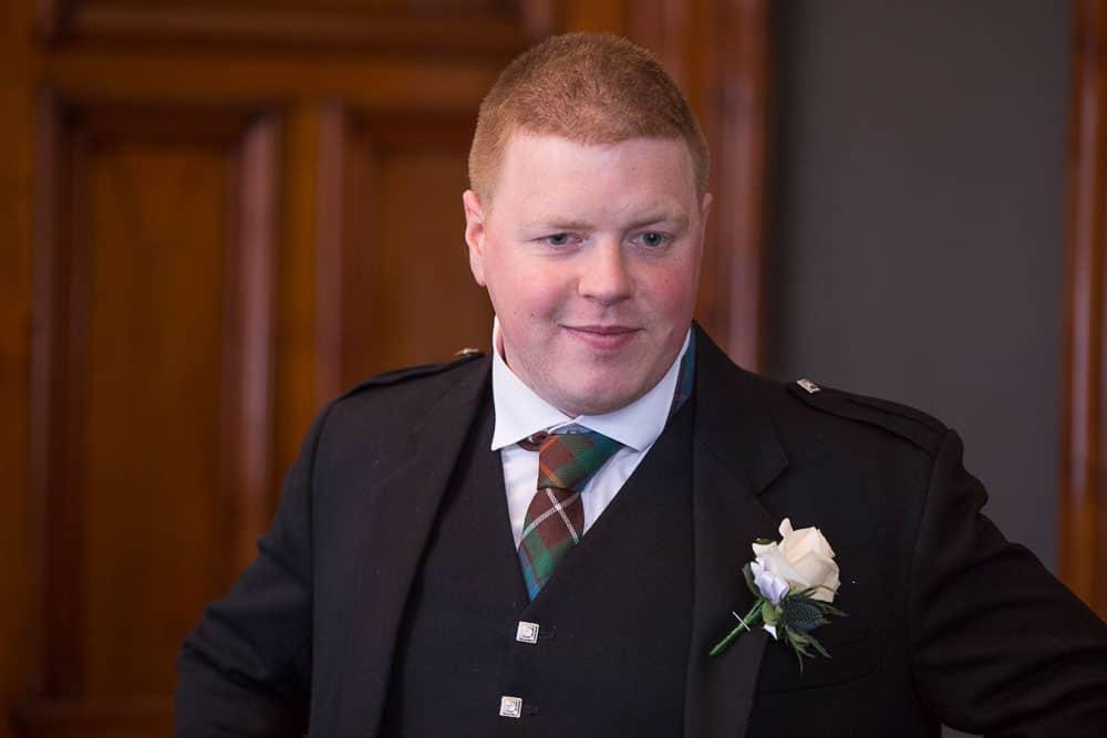 Glasgow City Chambers wedding groom