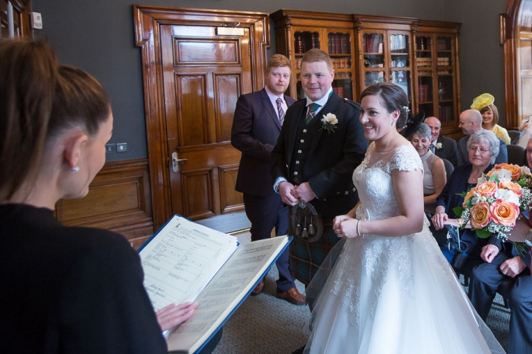 Glasgow City Chambers wedding ceremony