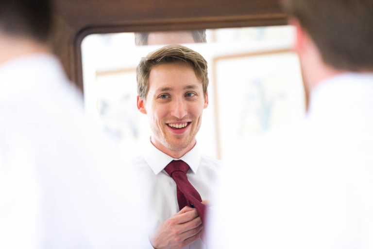 wedding photography Gean House groom Alloa