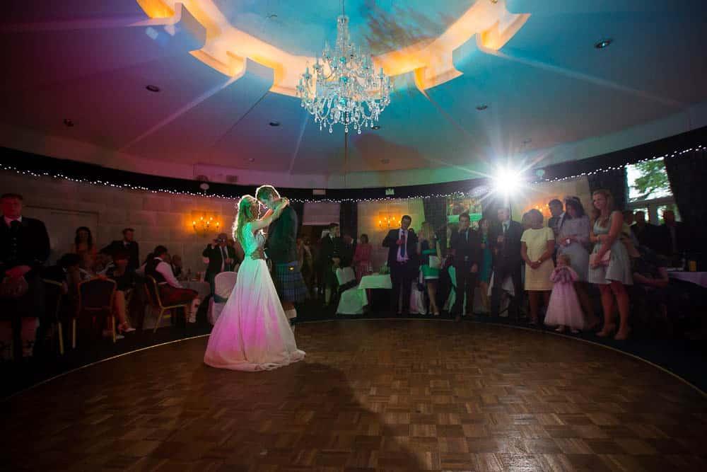 Fernie castle fife wedding photographer first dance