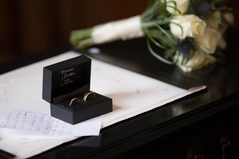 Wedding at 23 Montrose Street Registry Office wedding rings