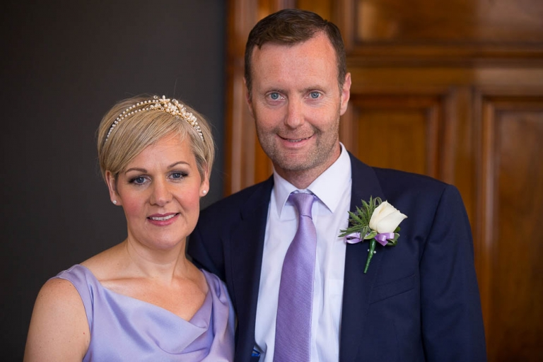 Wedding at 23 Montrose Street Registry Office bride and groom