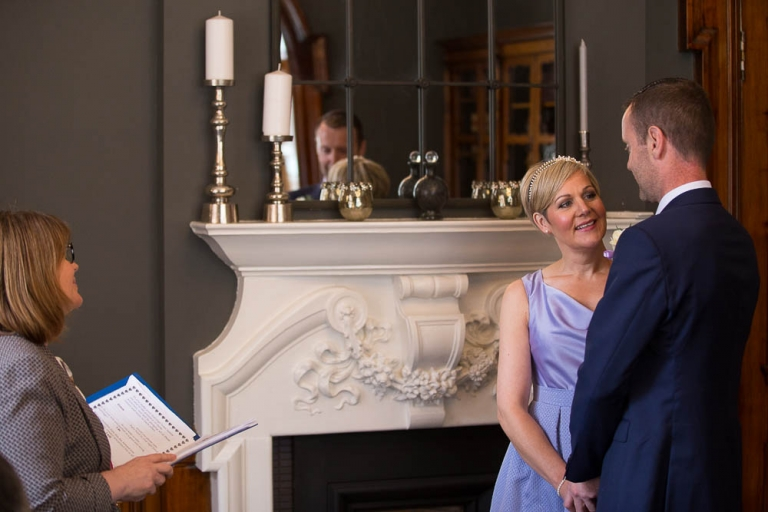 Wedding at 23 Montrose Street Registry Office ceremony