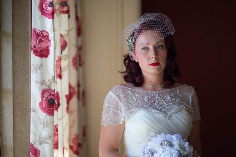 wedding photographer gean house classic bride portrait