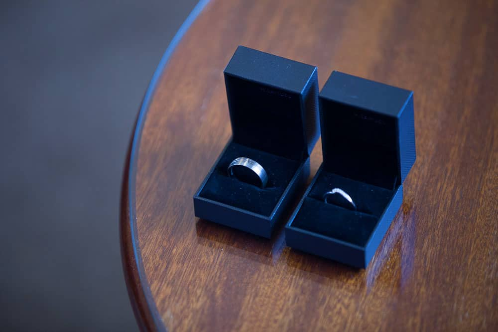 keavil house hotel wedding wedding rings in boxes bride and groom