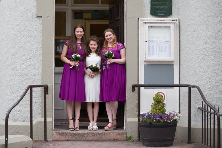 2 bridesmaids at south queensferry registry office