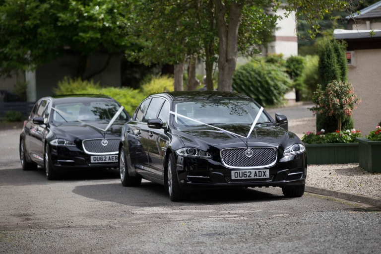 Best Western Keavil House Hotel black wedding car