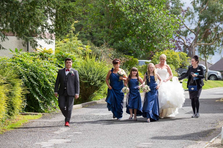 Best Western Keavil House Hotel bridal party arrival