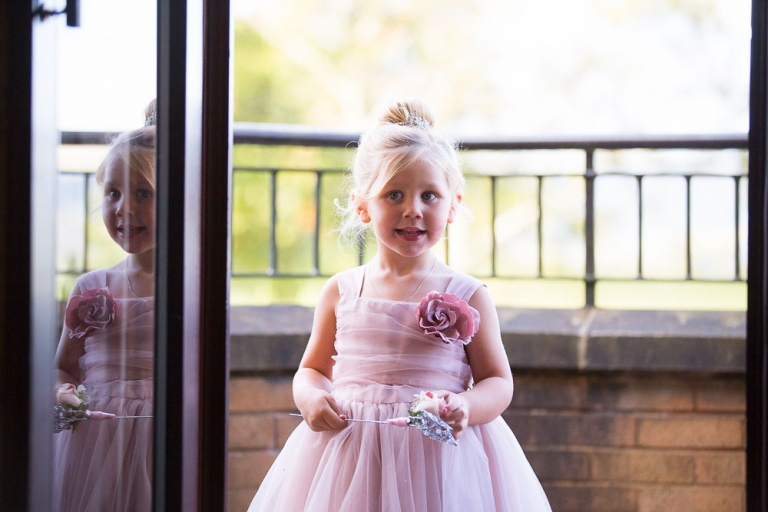 wedding photography westerwood hotel - cute flower girl