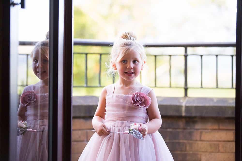 wedding photography westerwood hotel - cute flower girl
