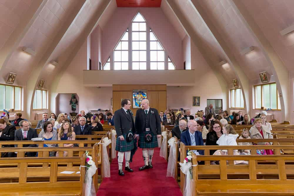 monica's chapel coatbridge - groom and bestman