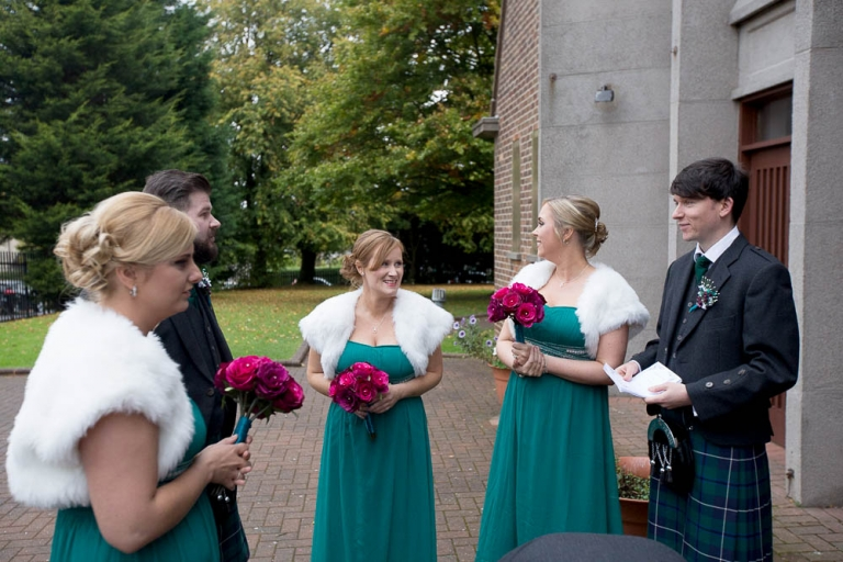 monica's chapel coatbridge - bridal party