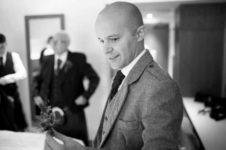 DoubleTree by Hilton the queensferry hotel wedding - groom