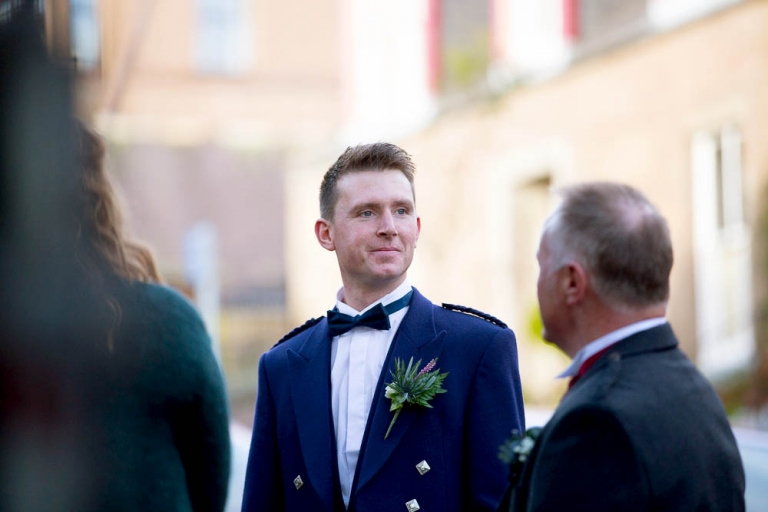 St Ninian's Church wedding, Brechin - Groom