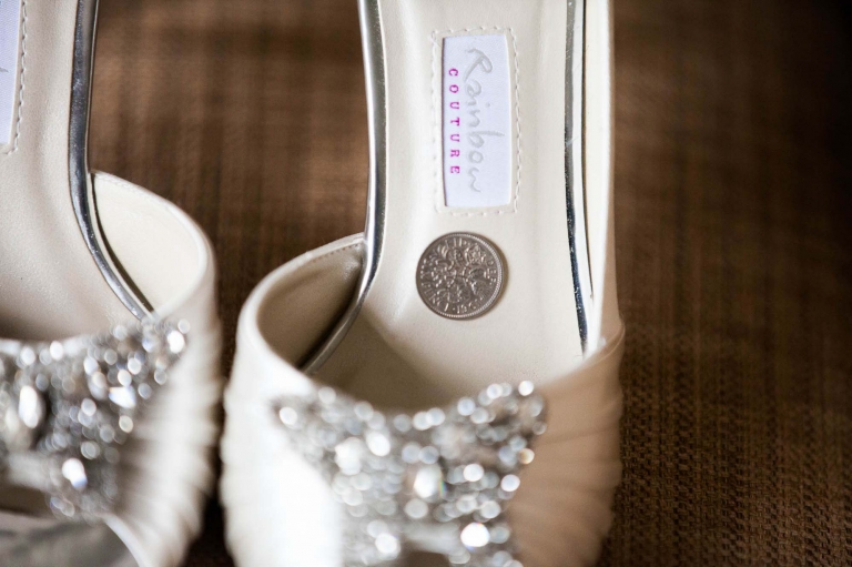 wedding shoes - sixpence in the shoe