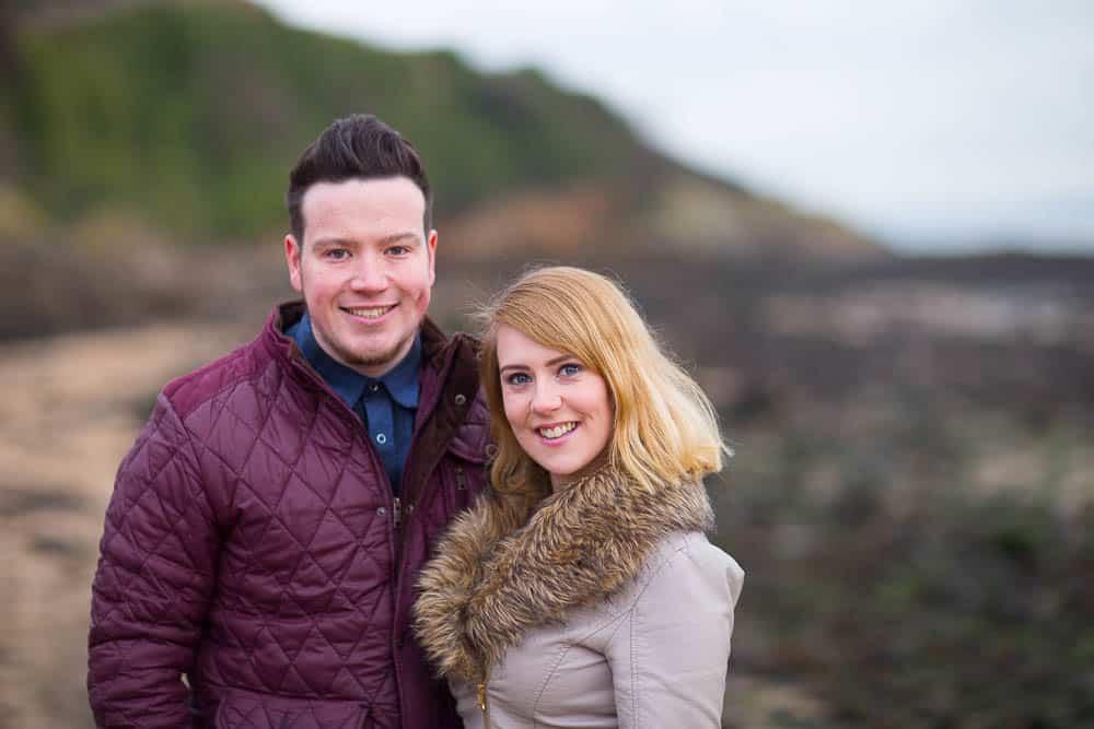 engagement photography dalgety bay - cuple on st davids beach