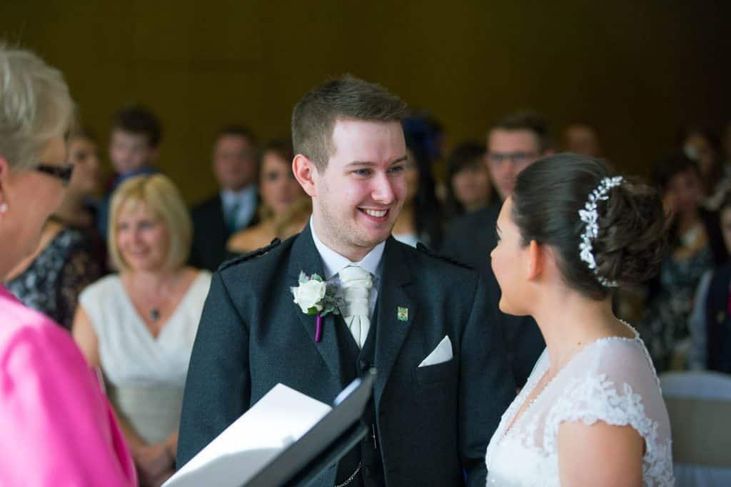 wedding ceremony groom closeup