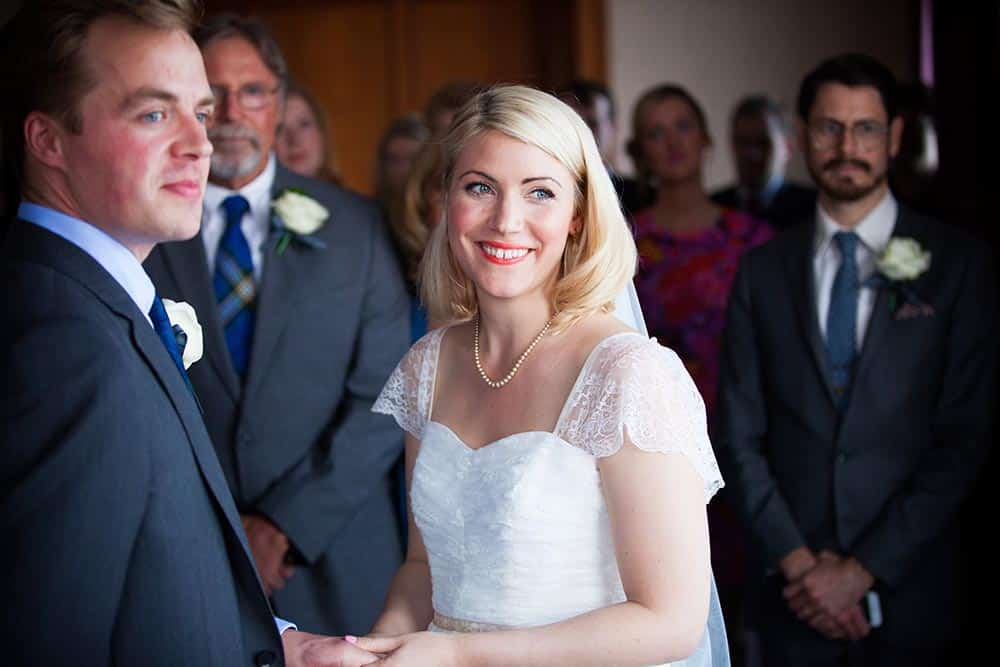 wedding ceremony at south queensferry registrar's office by white tree photography