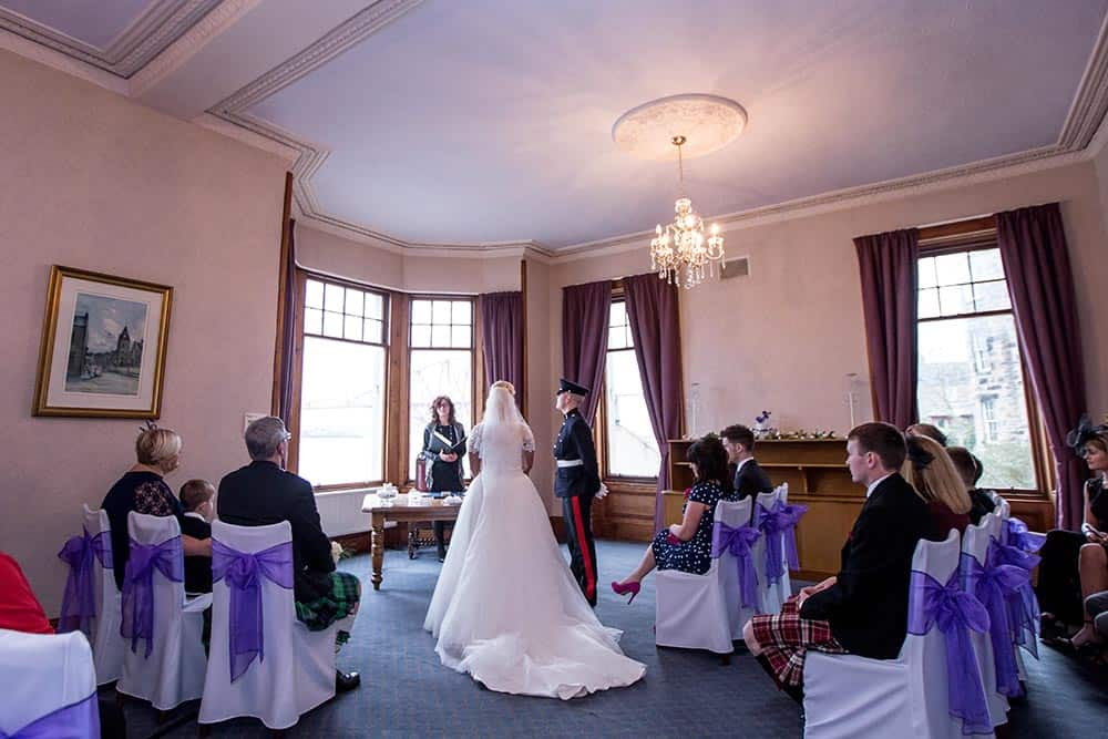 wedding ceremony room south queensferry registrar's office - by white tree photography