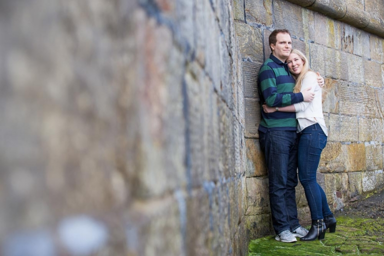 engagement photographer Edinburgh - romantic couple