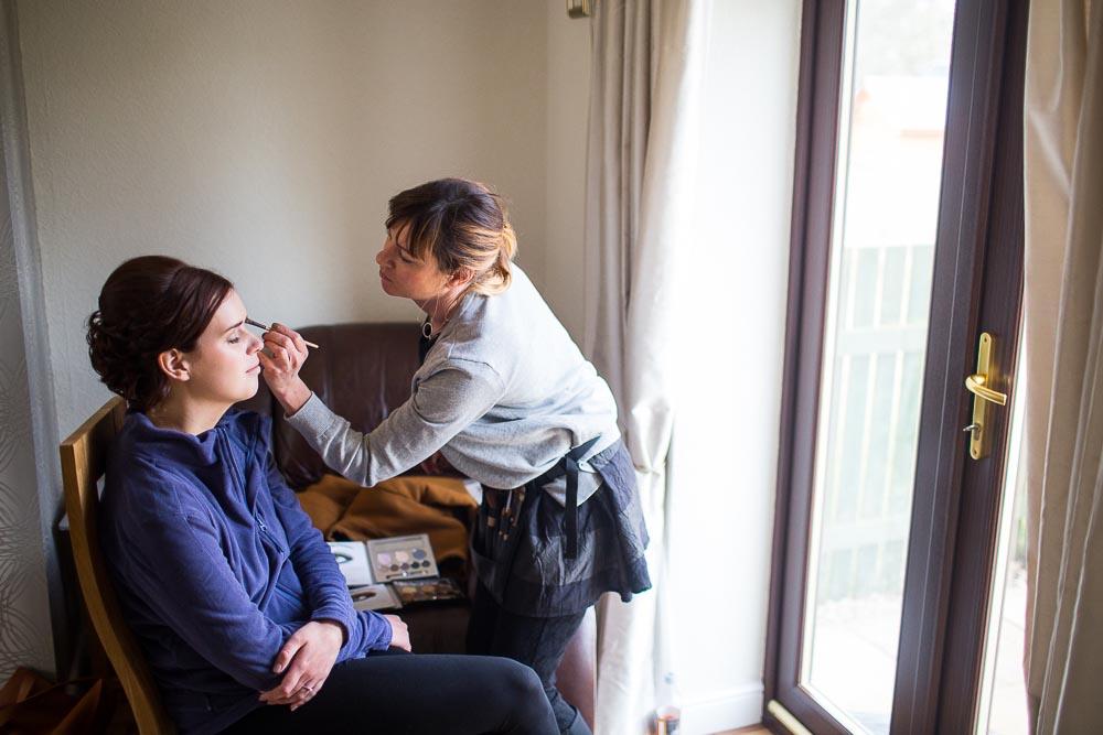 highland wedding photographer - bride makeup