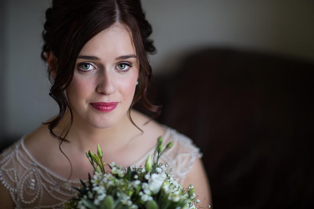 highland wedding photographer, bride portrait fine art