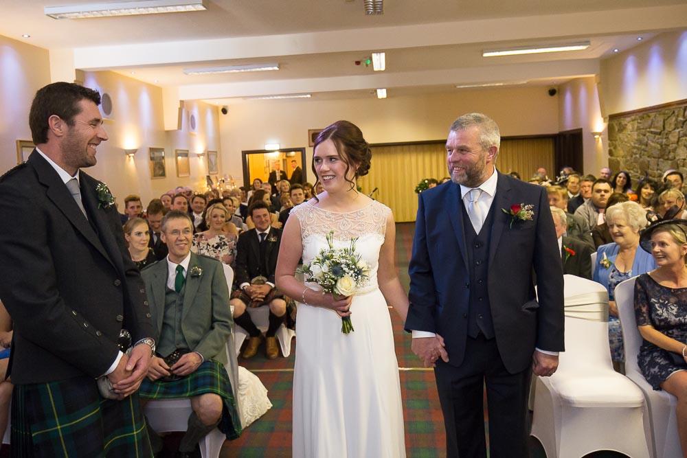 highland wedding photographer, groom first see bride