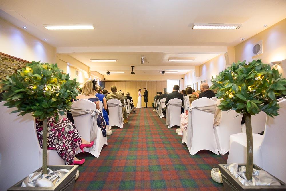 highland wedding photographer, wedding ceremony at carrbridge hotel