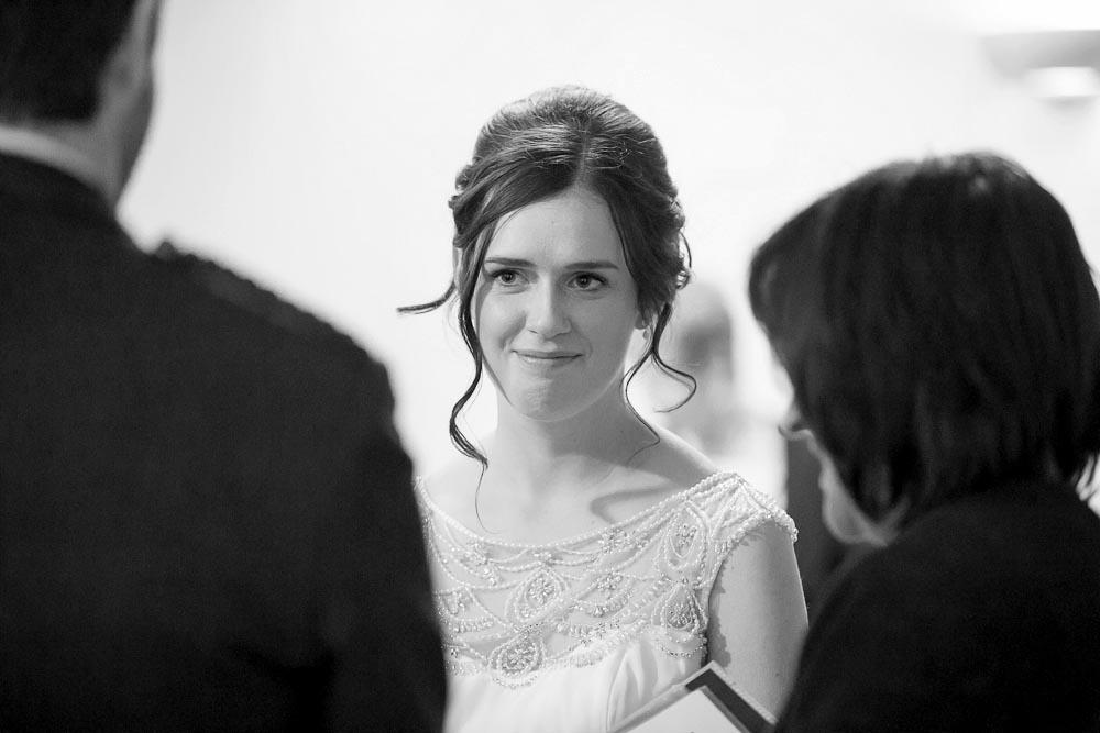 highland wedding photographer, bride at wedding ceremony
