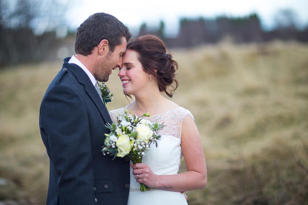 highland wedding photographer, romantic couple, photo by white tree photography
