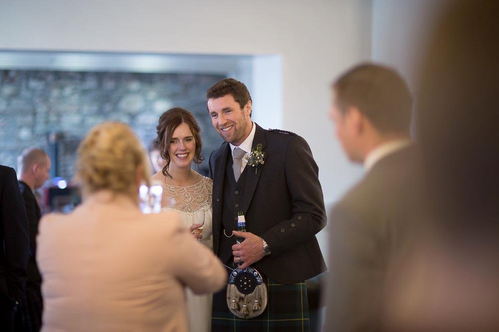 highland wedding photographer, bride and groom at wedding reception