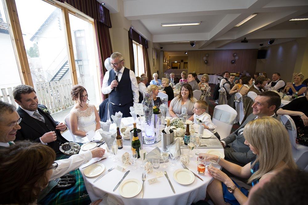 highland wedding photographer, carrbridge hotel speech