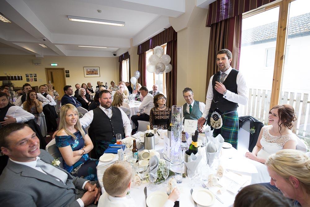 highland wedding photographer, grooms speech