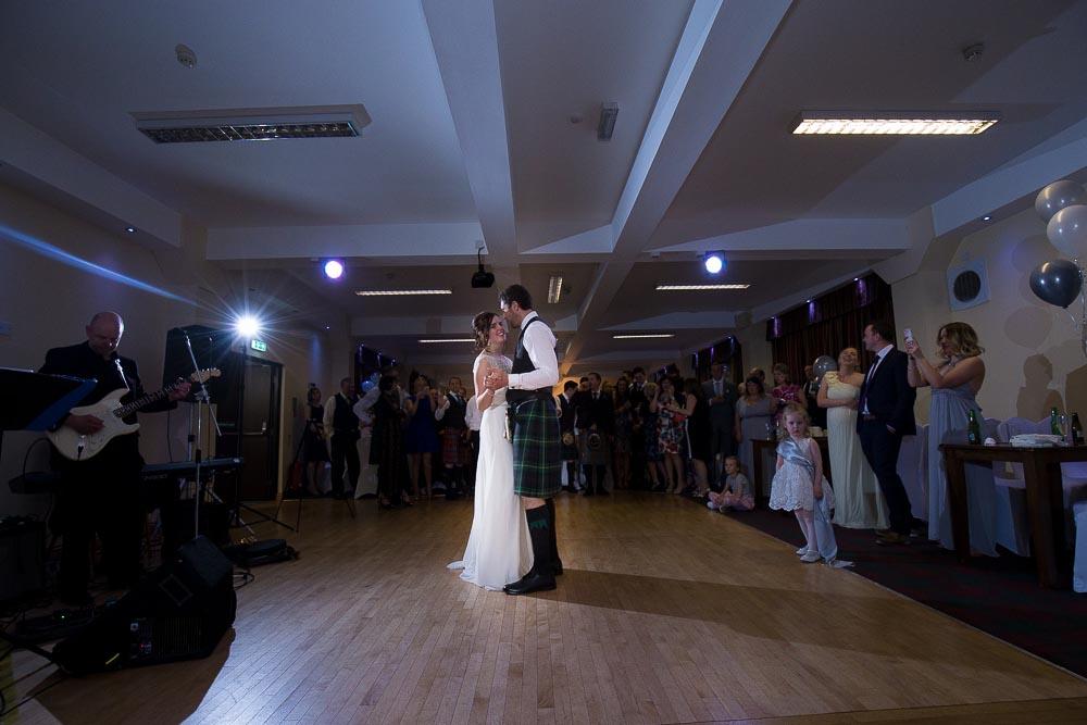 highland wedding photographer, first dance at carrbridge hotel