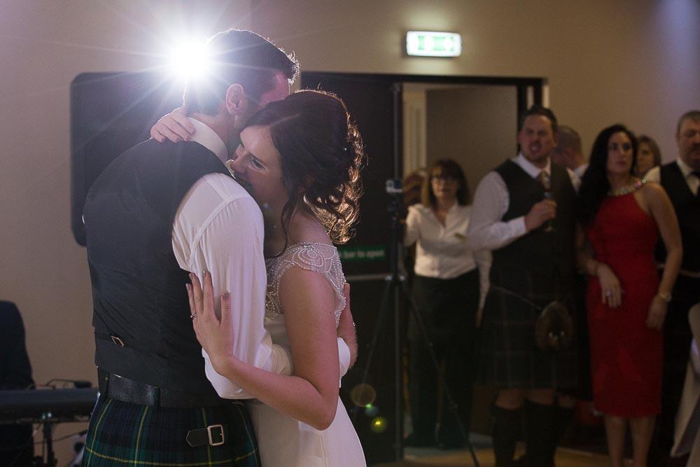 highland wedding photographer, bride and groom dancing