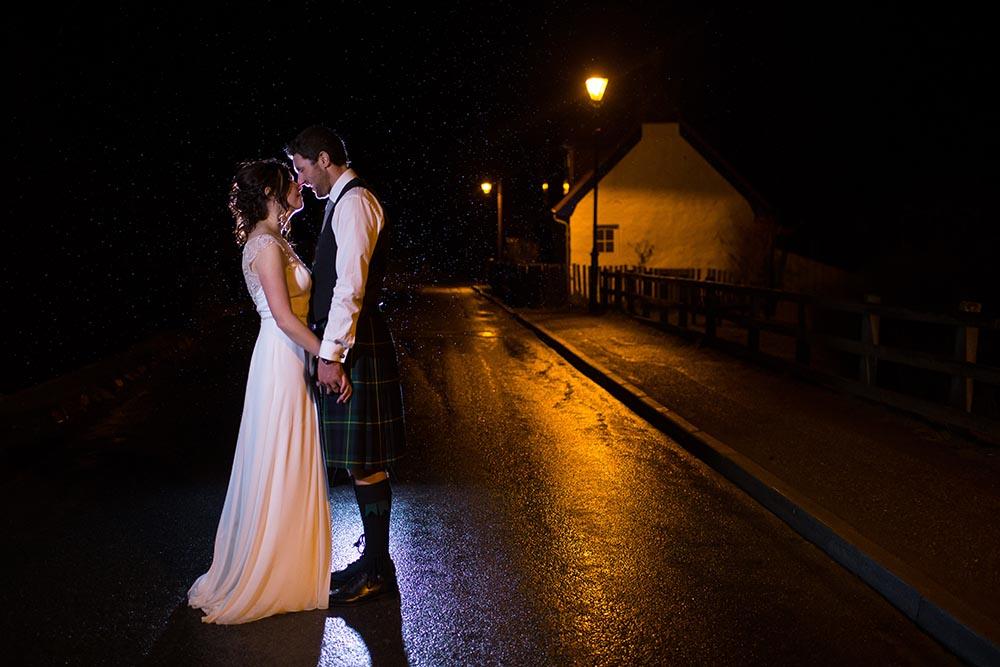 highland wedding photographer, carrbridge village at night, wedding photography