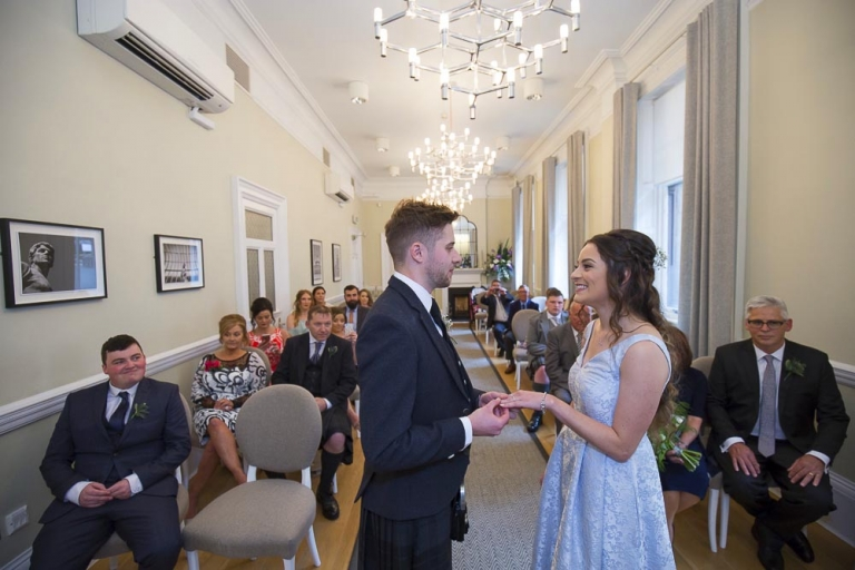 Glasgow City Chambers wedding photographer - wedding ceremony the kelvin room 23 montrose street glasgow
