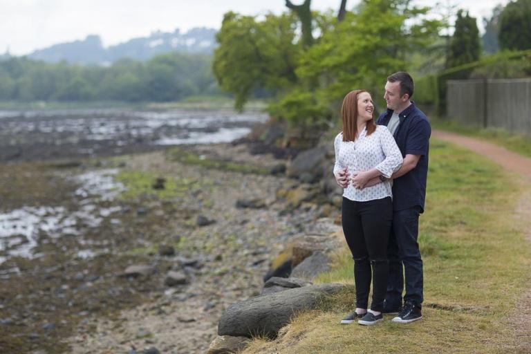engagement photographer fife, lovely couple