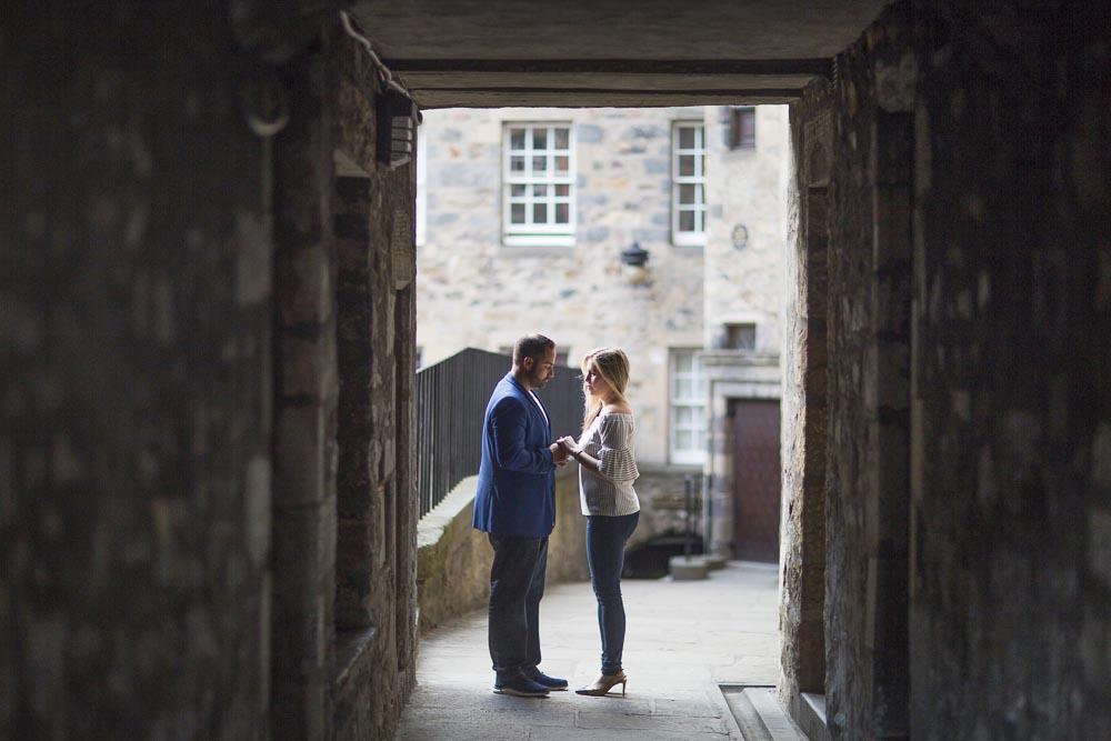 engagement photography Edinburgh romantic couple