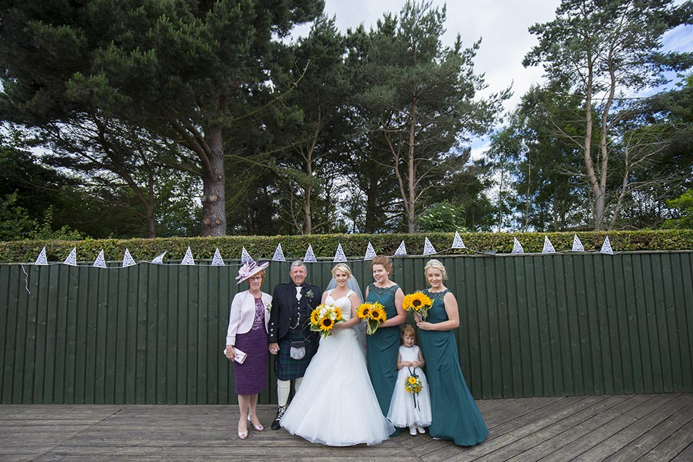 Invercarse Hotel wedding photography dundee - bridal party