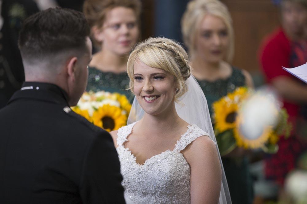Invercarse Hotel wedding photography dundee - bride at wedding ceremony