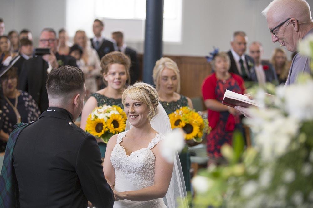 Invercarse Hotel wedding photography dundee - wedding ceremony