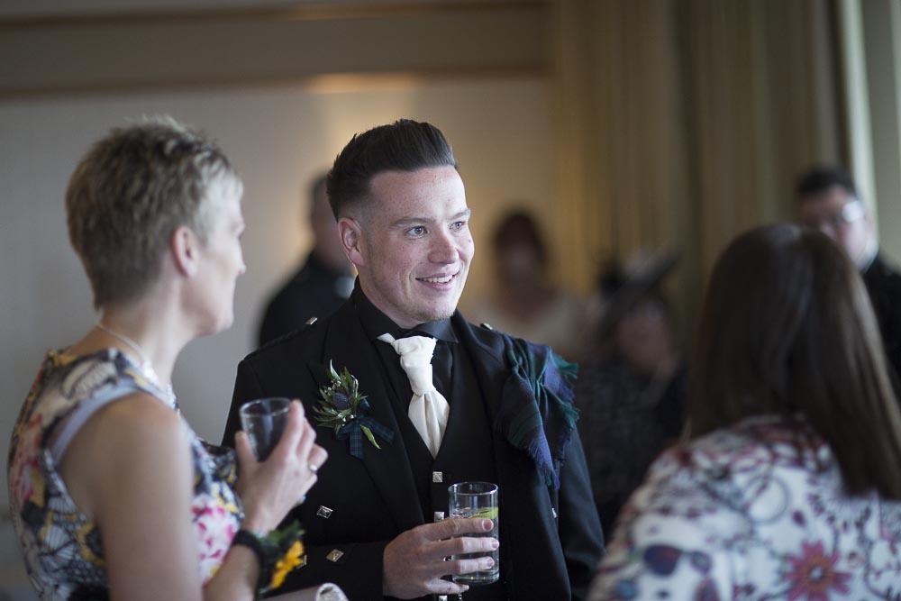 Invercarse Hotel wedding photography dundee - groom