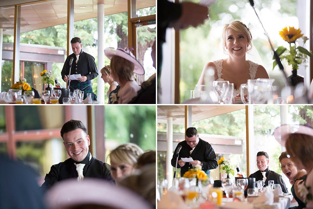 Invercarse Hotel wedding photography dundee - speeeches